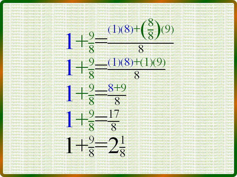 Ejercicio Resuelto 3 Suma De Fracciones Con Números Enteros Ejercicios De Fracciones Suma De Fracciones Fracciones