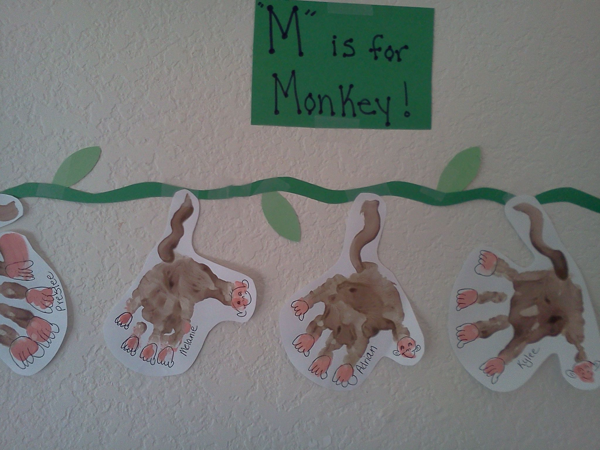 M Is For Monkey Project I Did With My Daycare Today