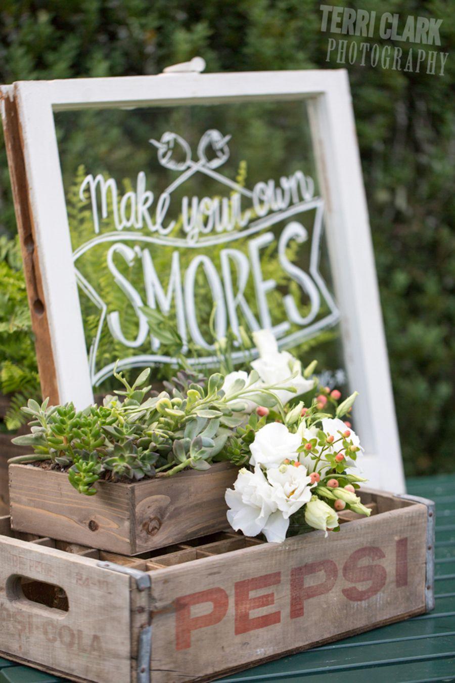 #Dessertmenu for a #rustic, #outdoorwedding