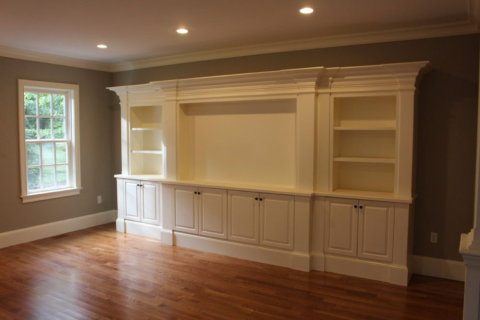 built in white entertainment center cabinets c l design
