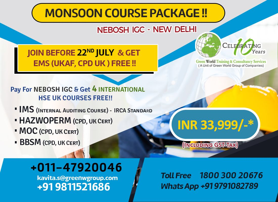 Join Nebosh Course In Green World Group Before 22nd July Get Ems