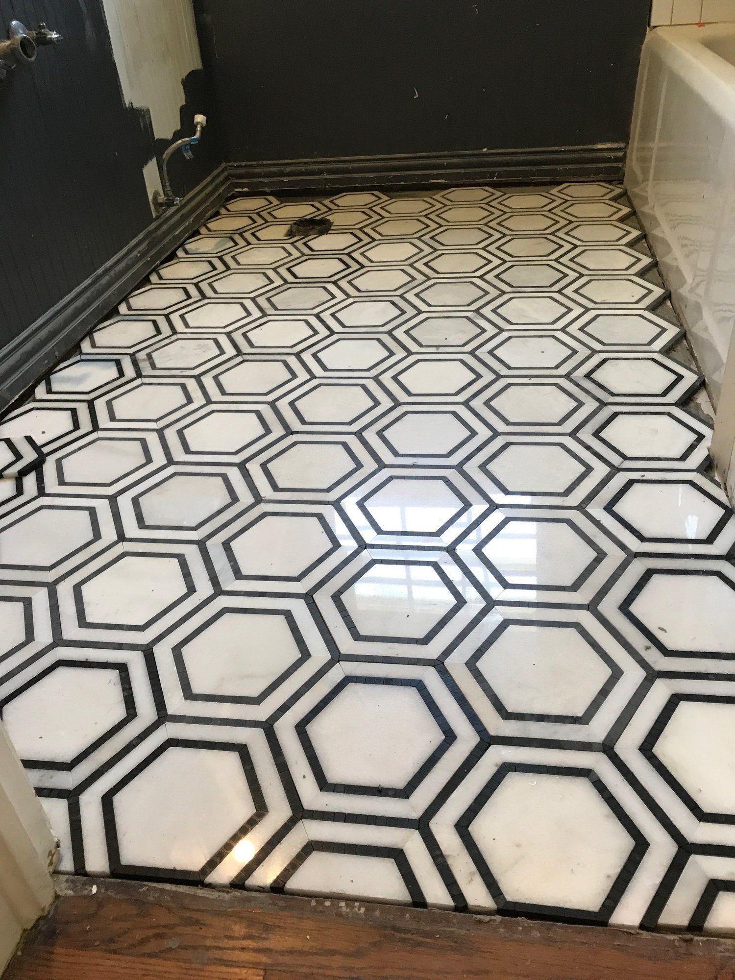Hexagon Mosaic Bathroom Remodel Mosaic Bathroom Bathroom Design Inspiration Walk In Shower Designs