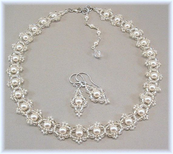 02af44642f0ca Bridal Choker Necklace, Statement Necklace and Earring Set, Wedding ...