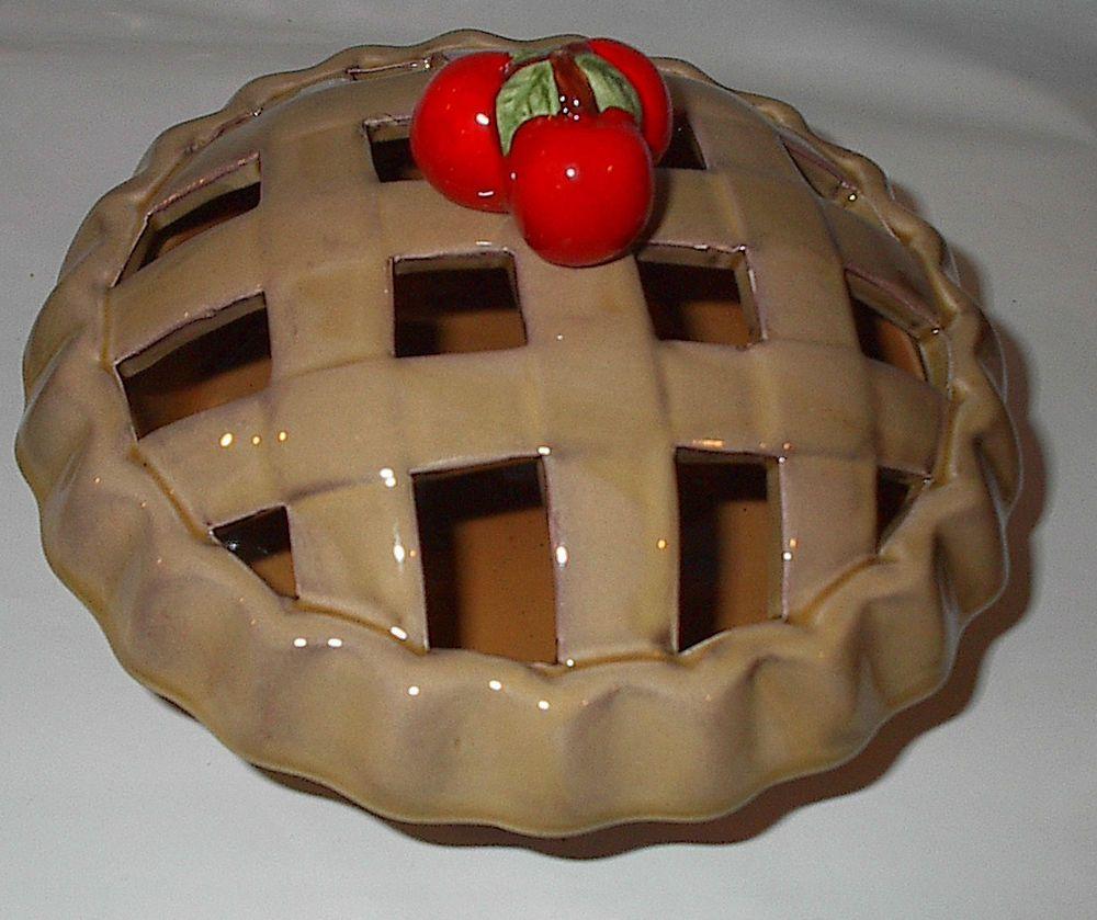NIB Mini Single Serve Oven Pie Plate Ceramic Dish with Cover CIB #CIB & NIB Mini Single Serve Oven Pie Plate Ceramic Dish with Cover CIB ...