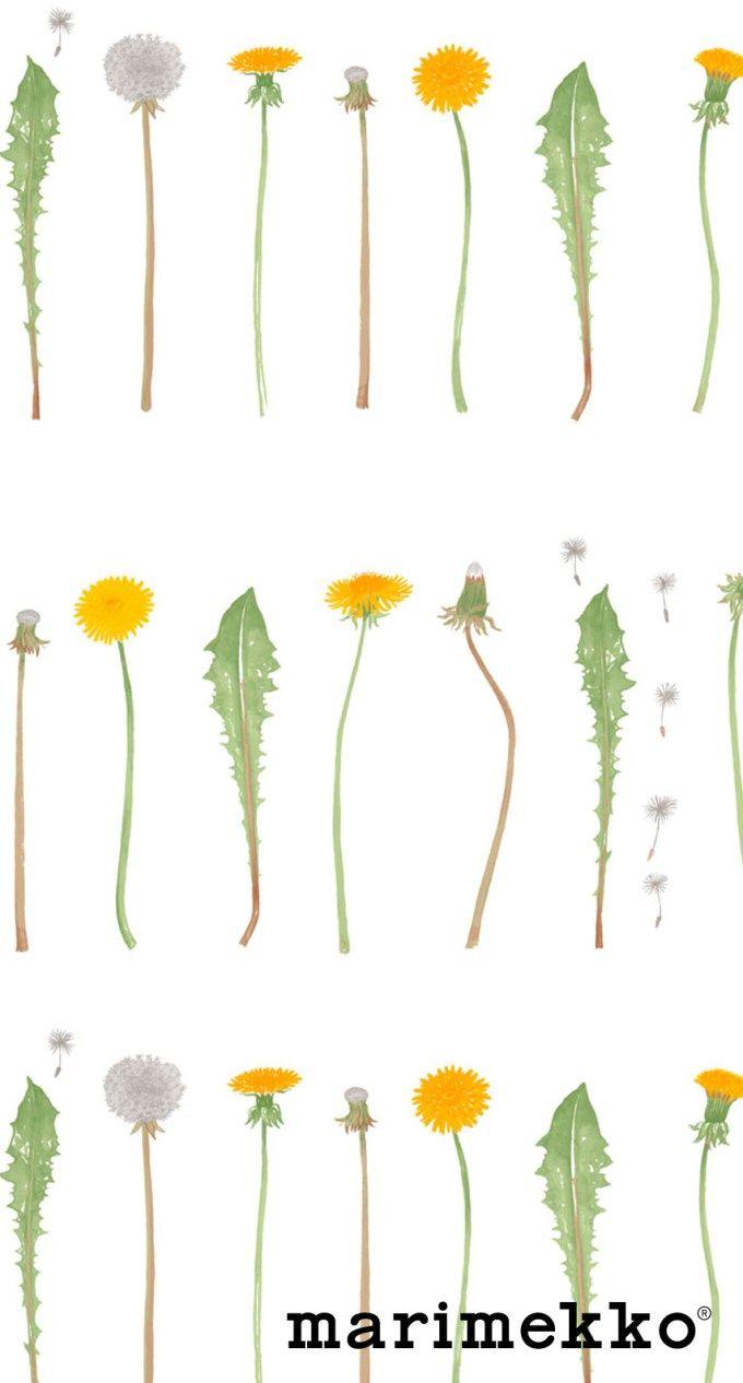 マリメッコ/花柄10 iPhone壁紙 Wallpaper Backgrounds iPhone6/6S and Plus Marimekko Floral Pattern iPhone Wallpaper もっと見る