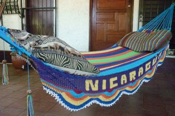You can order this hand-woven hammock to say whatever you want.