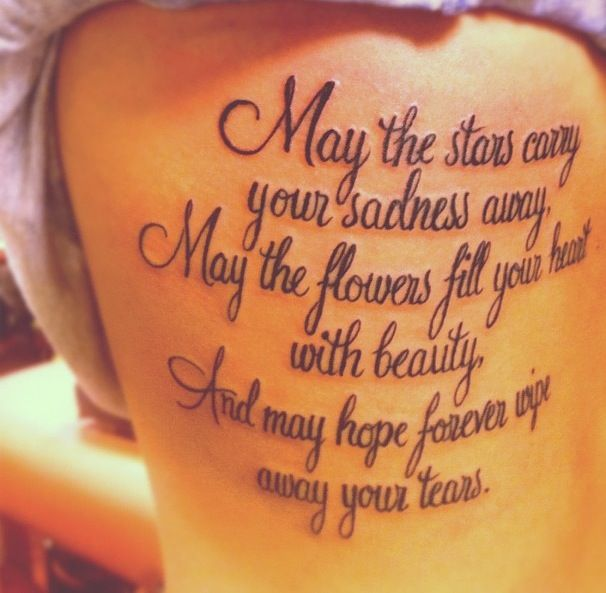 Stars Carry Your Sadness #tattoo #quote