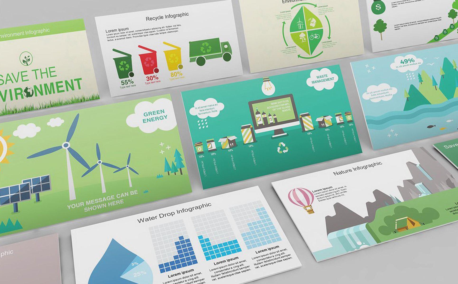 Environment Infographic Keynote Template Retail Logo Behance