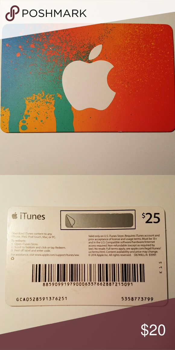$25 ITunes Gift Card   Itunes gift cards, Galaxy phone and Phone