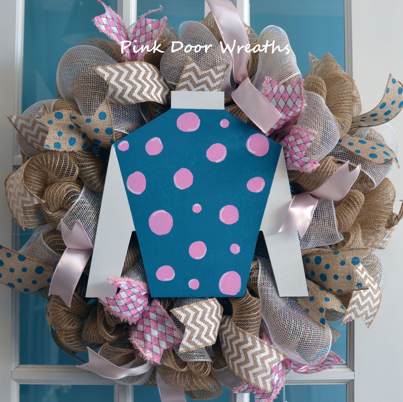 Derby Wreath Jockey Silk By Pinkdoorwreaths In Louisville Ky