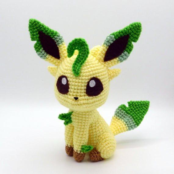 Crochet Pattern: Chibi Leafeon Amigurumi PDF File