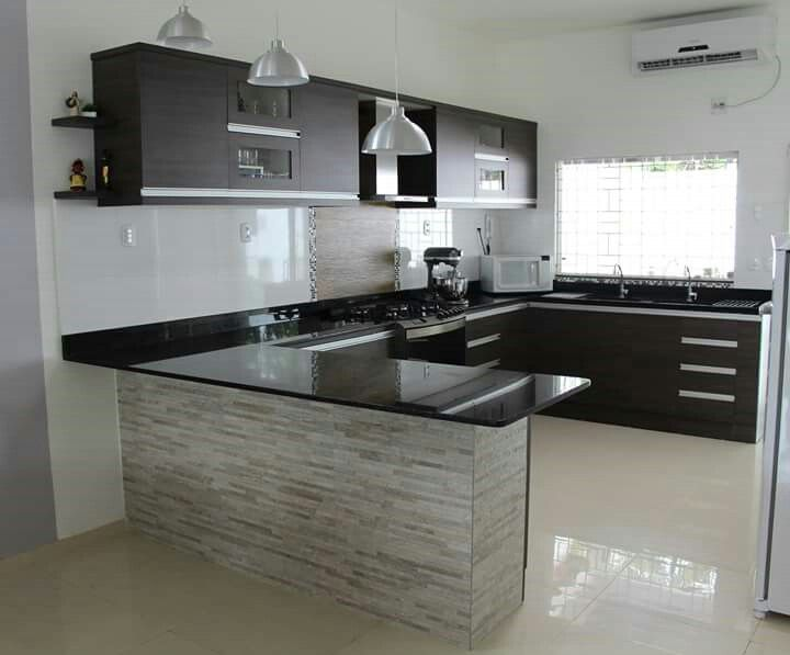 I want this kitchen... Maybe I\'ll change the counter marble ...