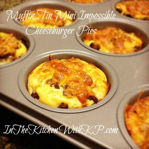Individual Impossible Cheeseburger Pies