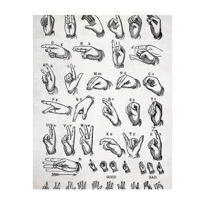 The Manual Alphabet Poster by Zapista OU