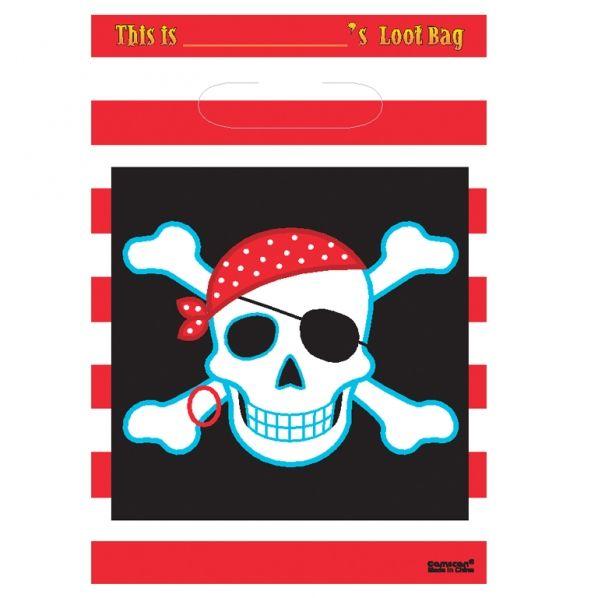 Borsina party a tema pirati per gadget e regalini di fine festa.