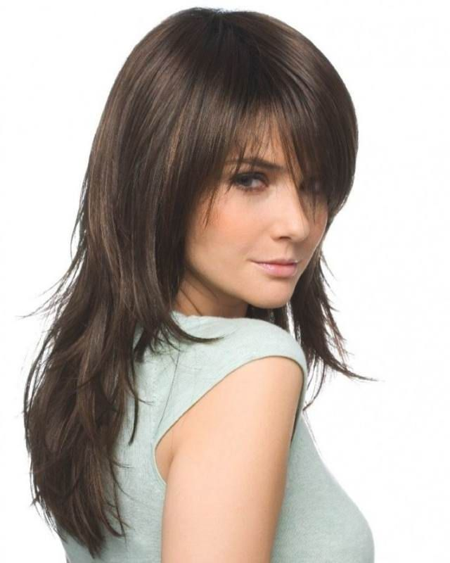 Medium Layered Haircuts For Thick Hair And Round Faces Google Search Long Hair Styles Hair Styles Long Layered Hair