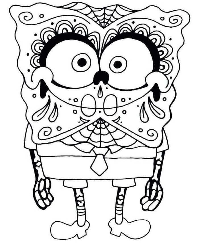 The Day Of The Dead Coloring Pages Printable | Skull ...