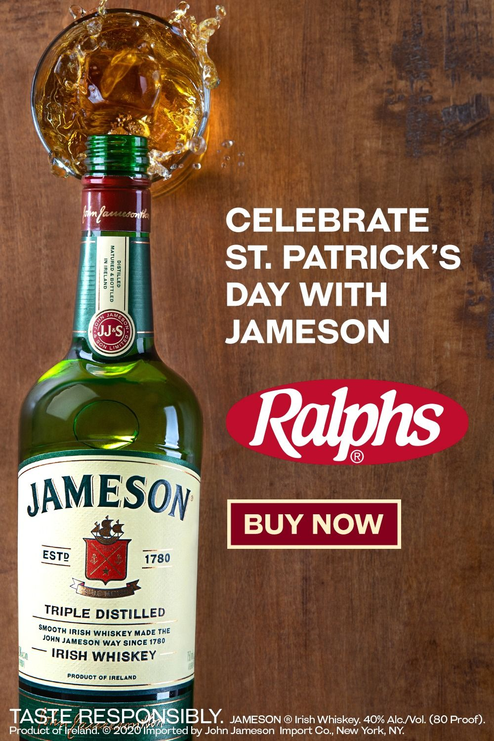 Bring the bar home order a bottle of jameson irish
