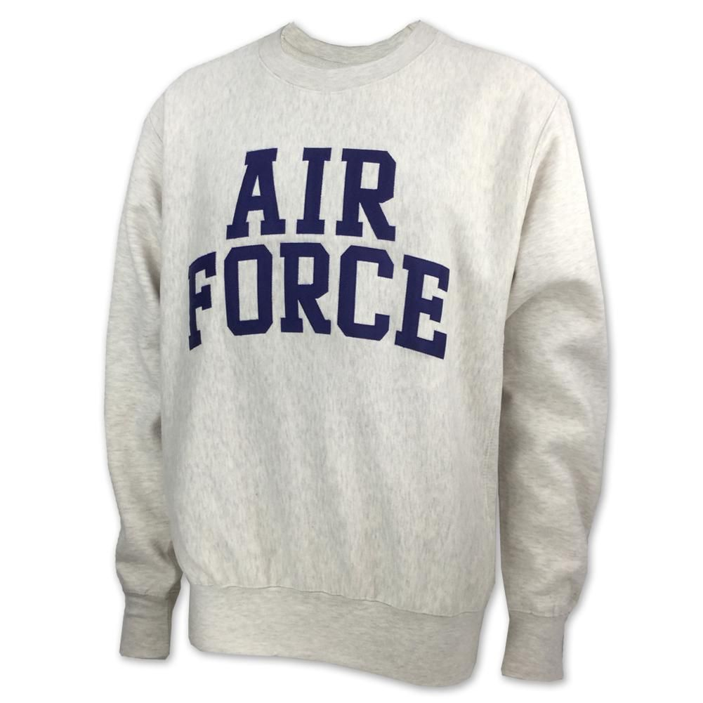 Air Force Proweave Tackle Twill Crewneck Oatmeal In 2021 Air Force Sweatshirt Air Force Sweatshirts [ 1001 x 1001 Pixel ]