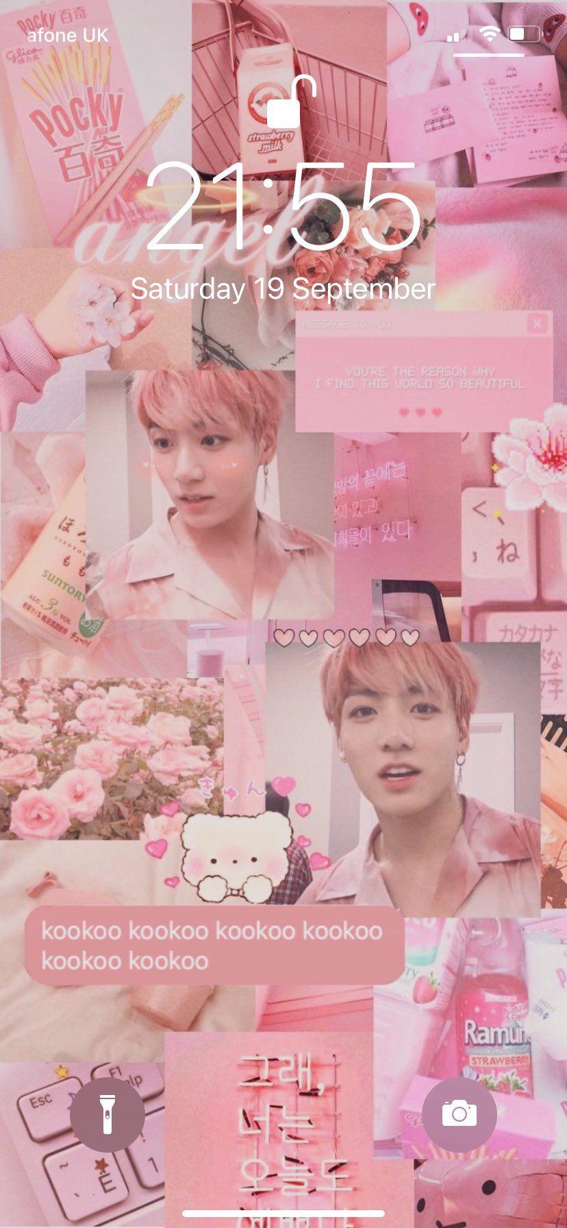 Pin On Phone Pink pastel bts wallpaper