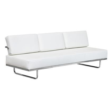 Fine Mod Imports Flat Lc5 Sofa Bed in White
