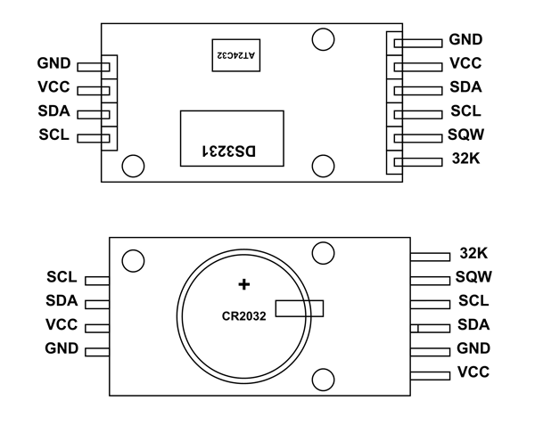 DS3231 RTC Module Pinout | Electronics projects, Real time ... on