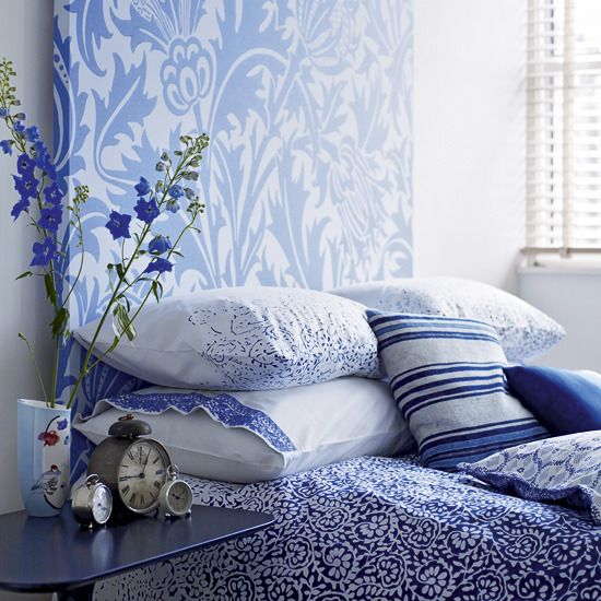morris rugs chrysanthemum china blue blue white bedroomsfabric - Blue And White Bedroom Designs