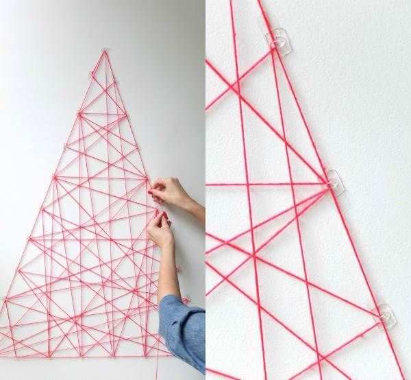 10 DIY Yarn Art Ideas for a Creative Touch Geometric wall art