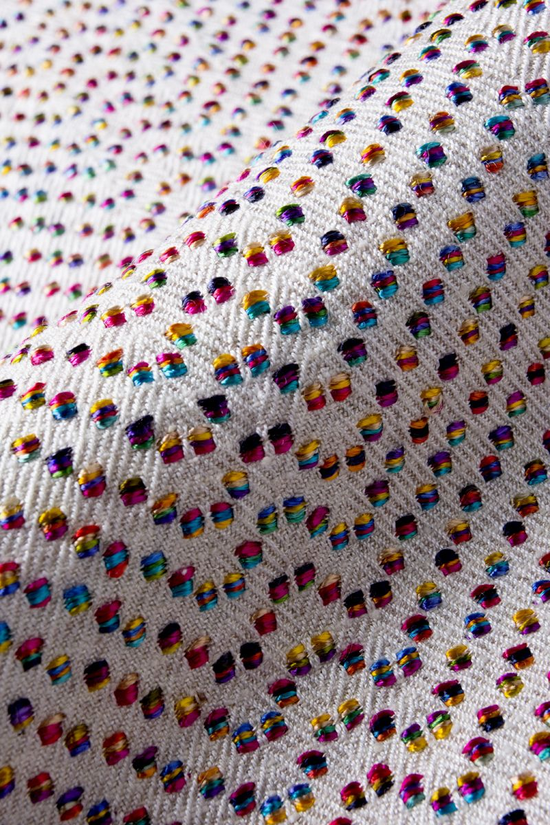 BONNIE KIRKWOOD - spots of contrasting effect yarn on twill ground ...