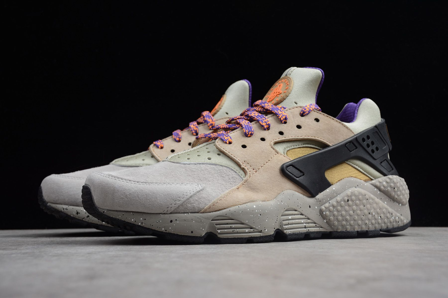 watch 8c590 10abc Nike Air Huarache Run Premium ACG Linen Golden Beige-Black-Court Purple  704830-200