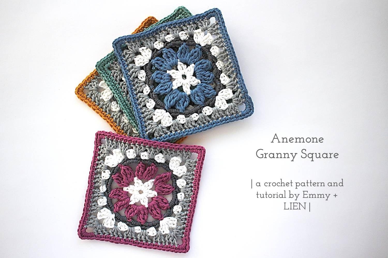 Anemone Granny Square | Free crochet pattern by Emmy + LIEN ...