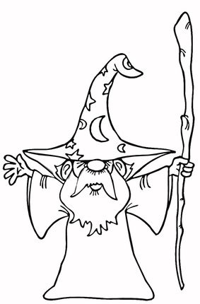 old wizard coloring page - Garden Gnome Coloring Pages