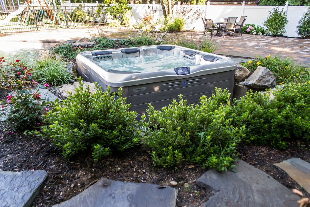 Bullfrog Spa Installation: We left one side of the hot tub exposed ...
