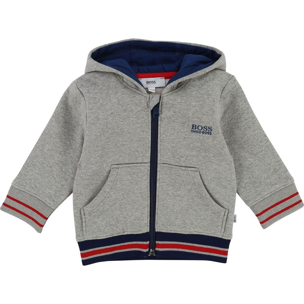 Hugo Boss J05647 A33 Hooded Baby/'s Tracksuit Grey