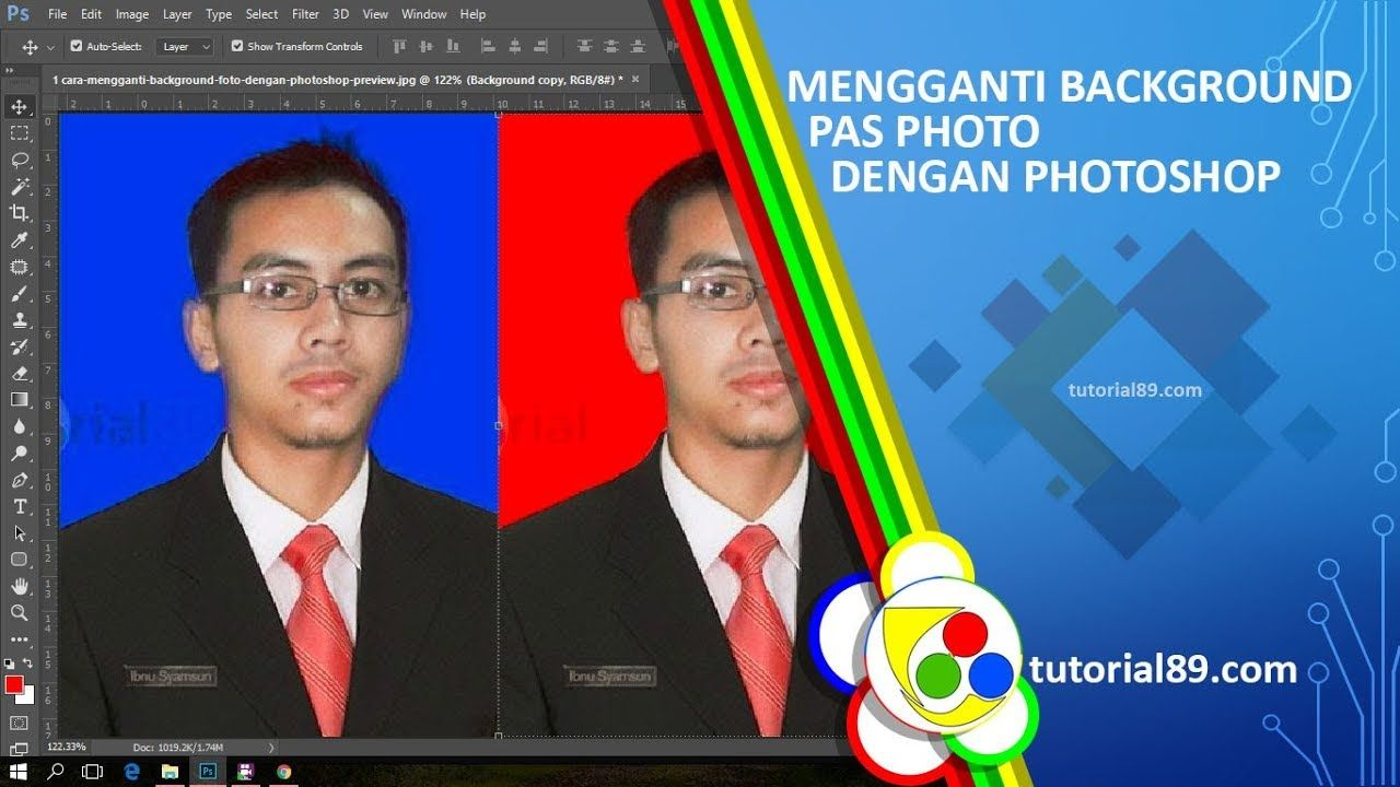 Cara Mengganti Background Pas Photo Di Photoshop Photoshop