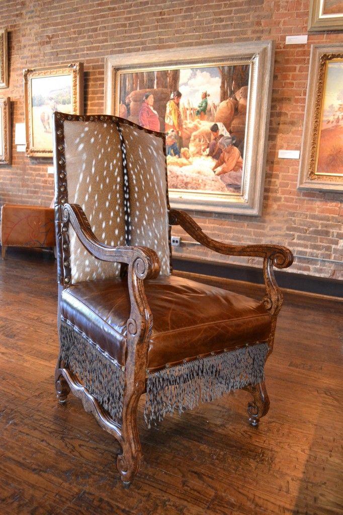 Antique Western Axis Deer Hide Chair - Antique Western Axis Deer Hide Chair I Love Chairs! Pinterest