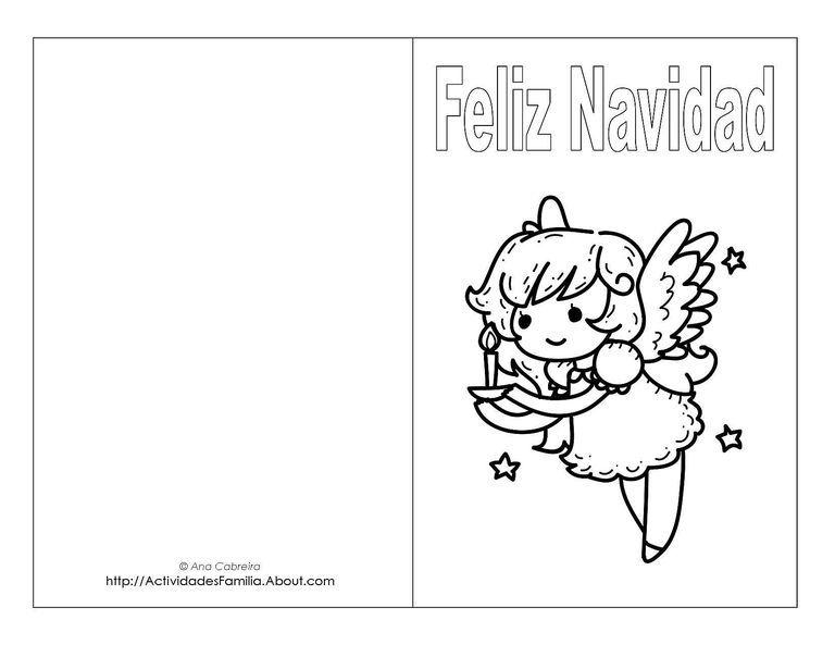 10 Tarjetas de navidad para imprimir con imágenes de Santa Claus ...