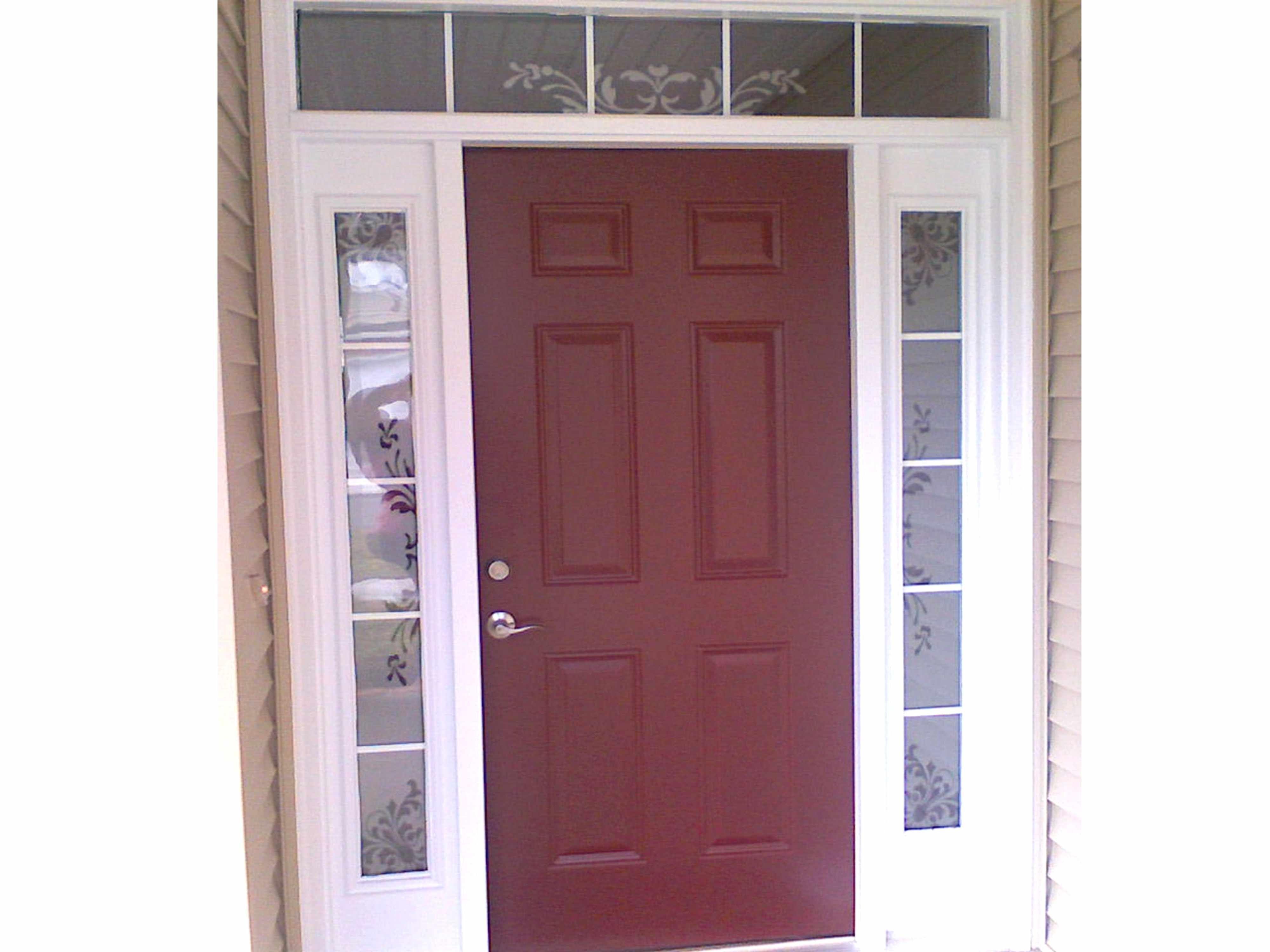 Front Door Sidelight Window Film