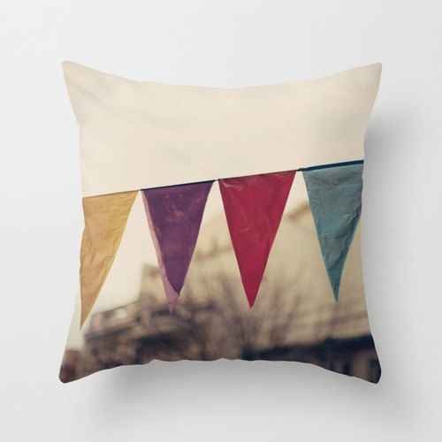 Pillow Cover French Pillow Carnival Vintage Pillow Couch Pillow Nursery Art Nursery Decor Flags Love Pillow Spring French Pillows Vintage Pillows Flag