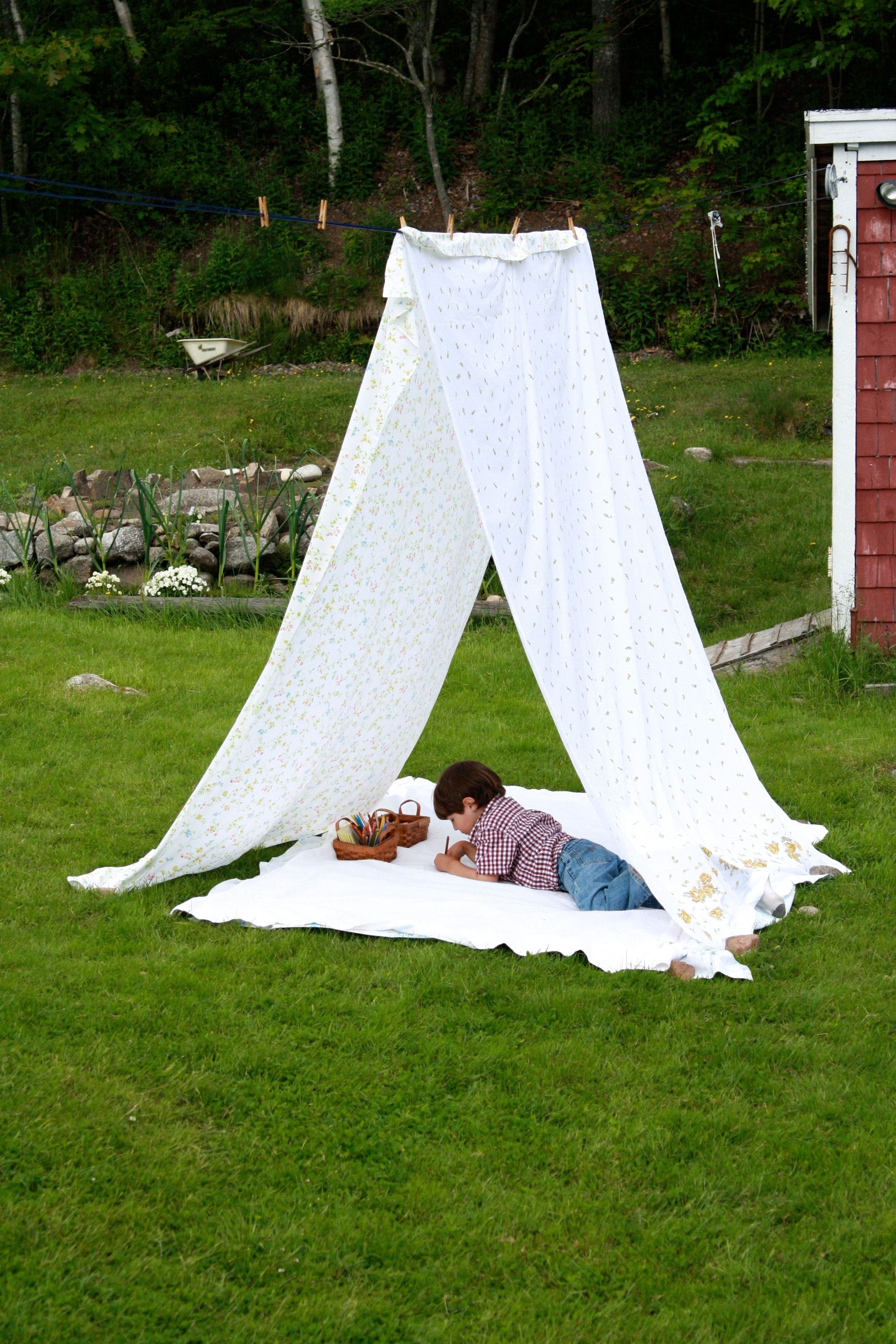 sheet tent clothesline tent photography insprations