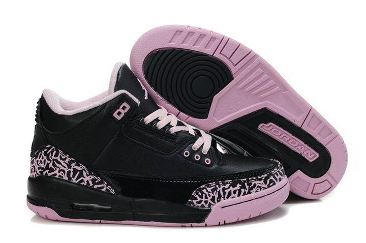 newest e8c9b 8c40c Women S Shoes European Size Conversion. Air-Jordan-3-womens-black-baby-pink ---