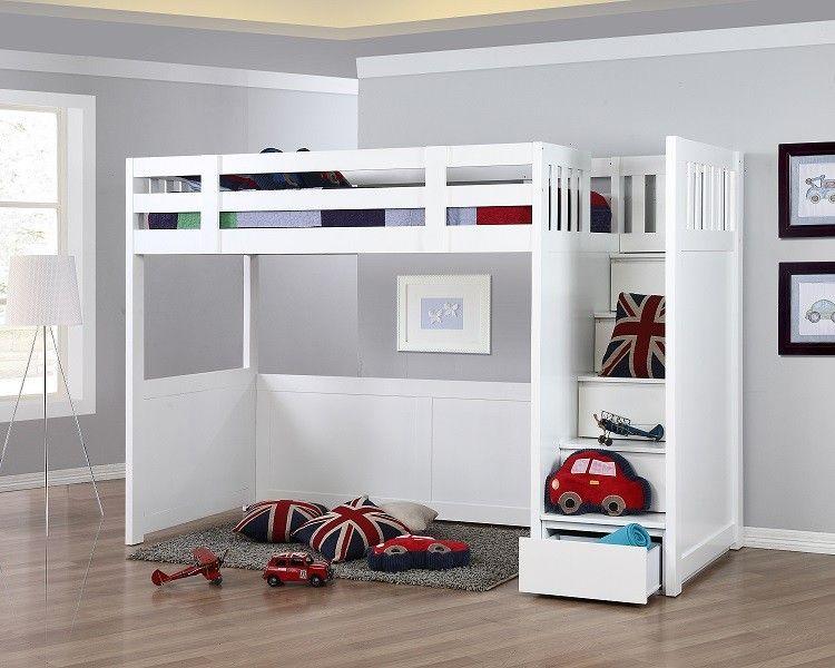 New Hampshire Super Single Storage Loft Bed Single Loft