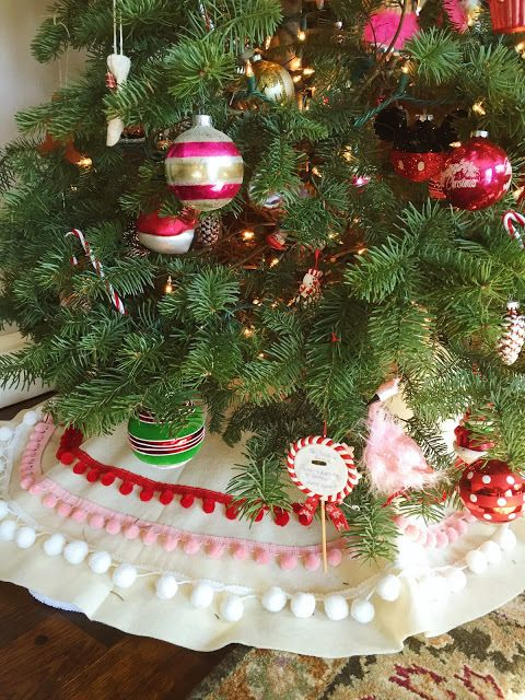 30 Xmas Tree Skirt for Christmas Decorations Indoor Outdoor Easter Holiday Easter Rabbit Bunny Eggs Butterflies Spring Flower Christmas Tree Skirt