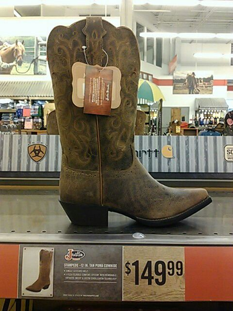 NEED Justin boots tractor supply