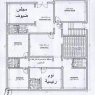 مخطط دور صغير House Floor Design Model House Plan House Map