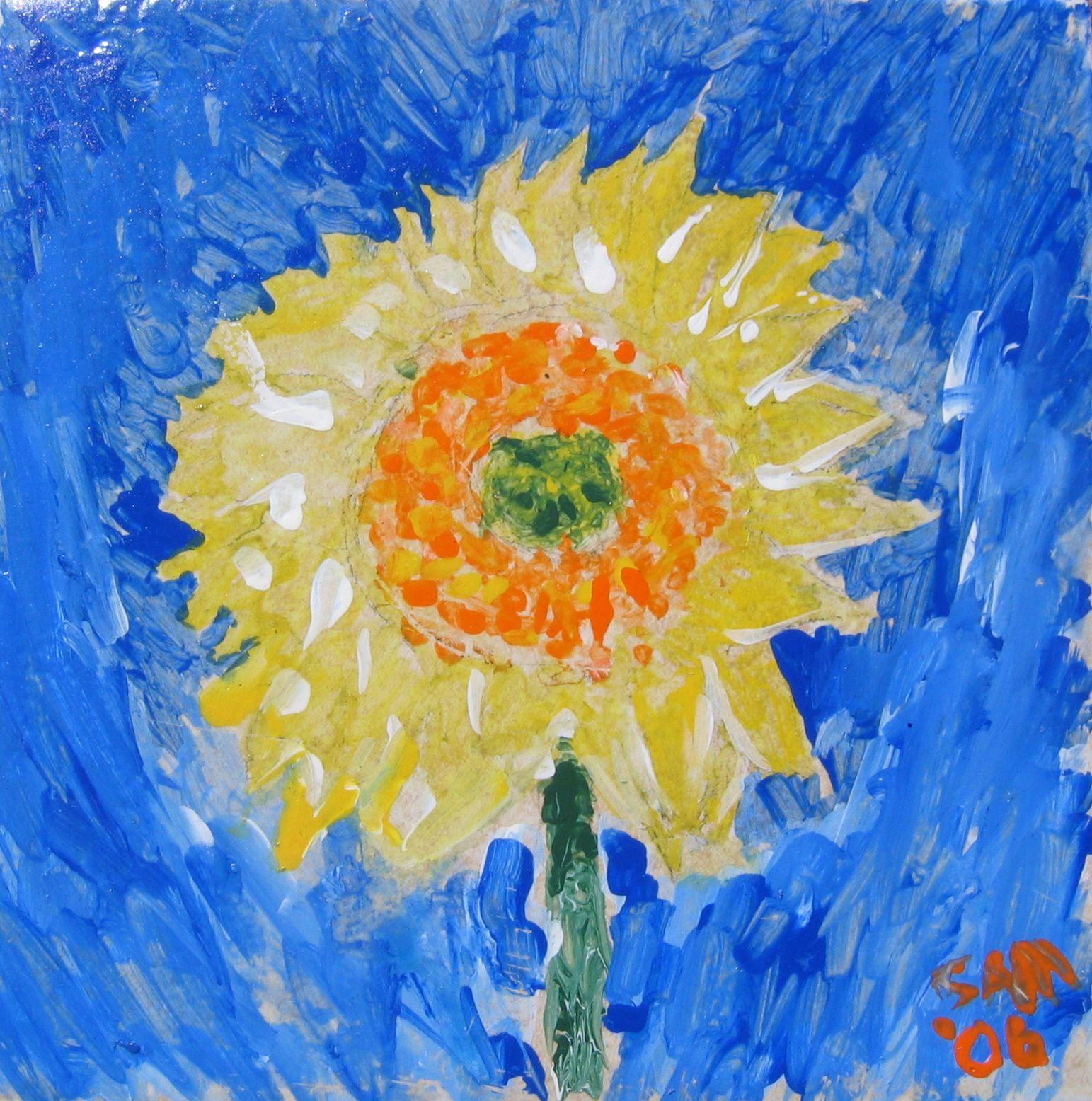 Kids Learn Van Gogh Style Sunflower Painting On A Keepsake