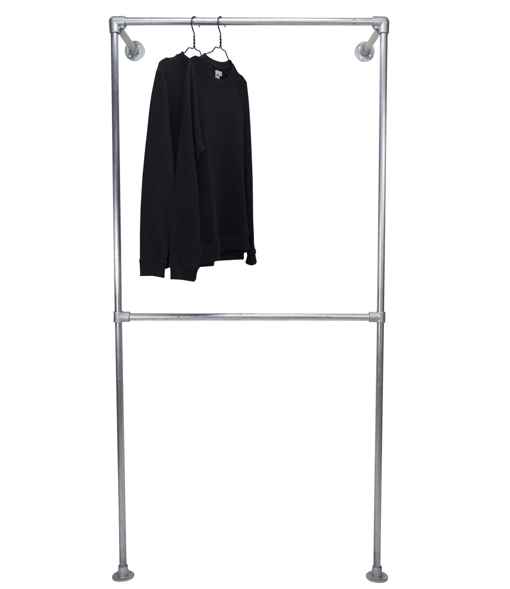 double wall clothes rail clothes rail walls and storage ideas rh pinterest com