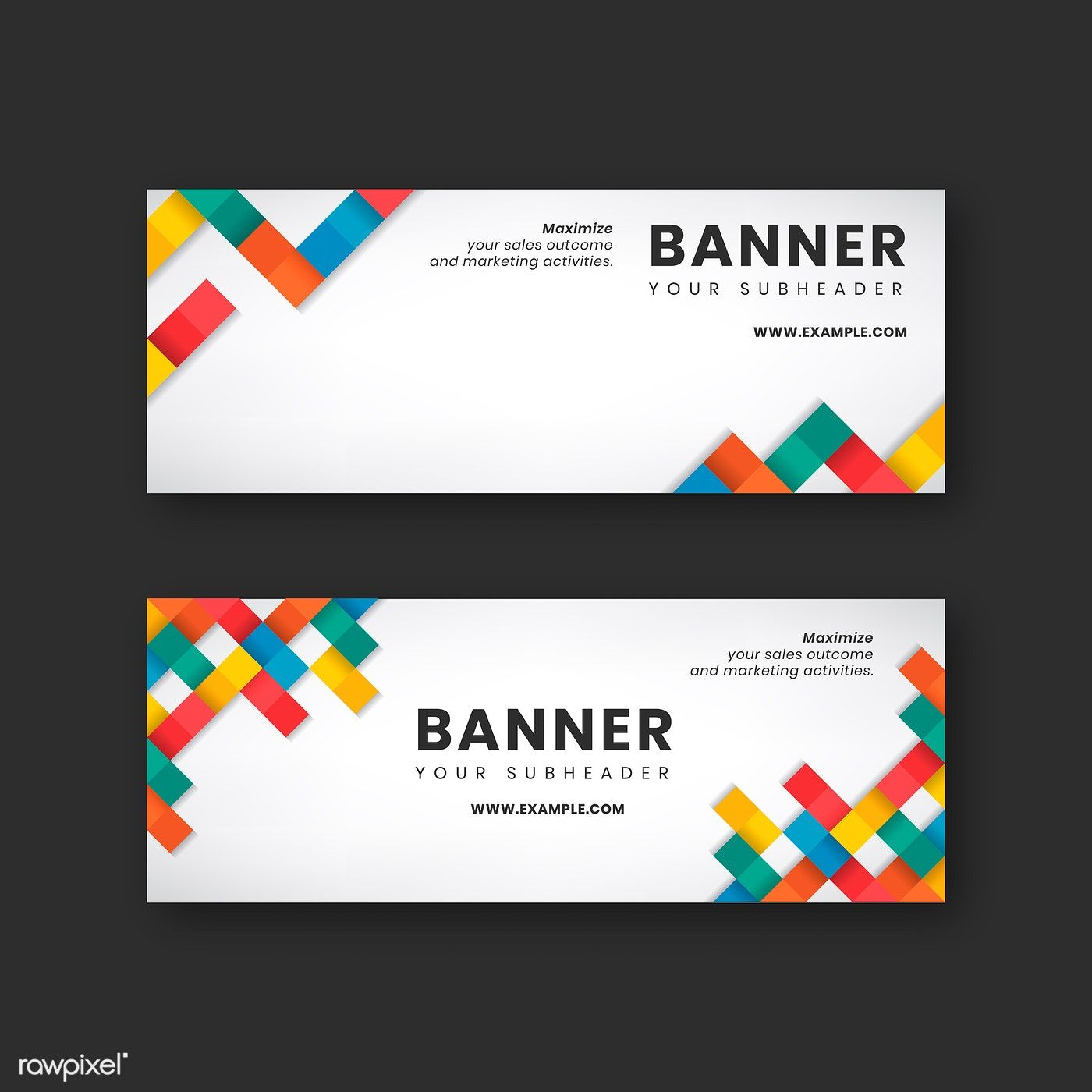 Colorful Website Banner Design Vector Set Free Image By Rawpixel Com Website Banner Design Website Banner Banner Design