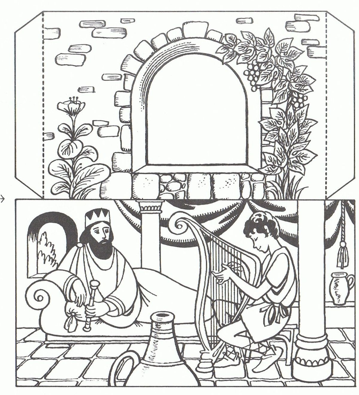 1b4e75000bd173748b10618b89238410 Jpg 1 200 1 320 Pixels Bible Crafts David And Saul Bible Coloring Pages