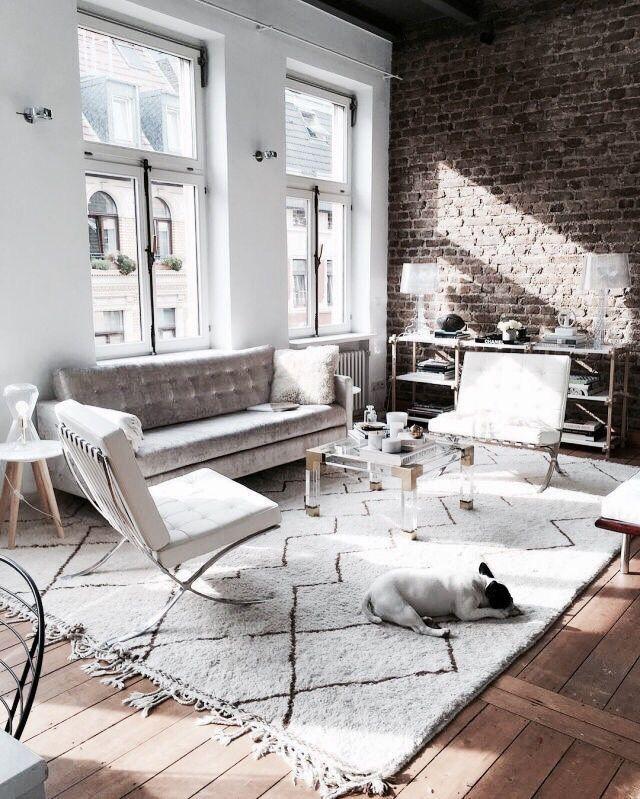 Nordic Style Decor With Brick Face Feature Wall Scandinavian Interior Design Scandinavian Interior Loft Living House Interior Home